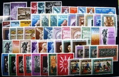 Briefmarken Dynamisch Vatikan Jahrgang 1961 Und 1962 Komplett Postfrisch * Ausreichende Versorgung