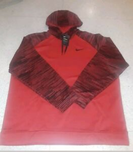 dcc7dc62a597 NWT Men s Nike Big   Tall Therma KO PULLOVER HOODY Hoodie RED 860483 ...