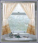 "Carnation Home Fashions ""Fleur"" Fabric Window Curtain in Gold"