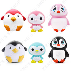 jumbo squishy cartoon penguin baby doll slow rising scented squeeze