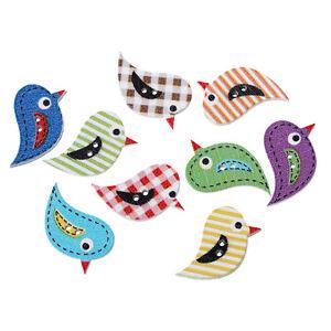 20 Wooden Birds Sewing Buttons  27 x 17mm crafts scrapbook - Dereham, Norfolk, United Kingdom - 20 Wooden Birds Sewing Buttons  27 x 17mm crafts scrapbook - Dereham, Norfolk, United Kingdom