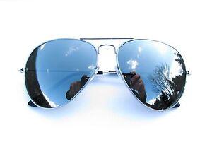 Alpland-Pilotenbrille-Sonnenbrille-Silber-voll-Verspiegelt
