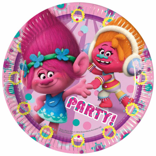 Trolls Party Decorations Supplies Tableware Happy Birthday Banner /& Balloons