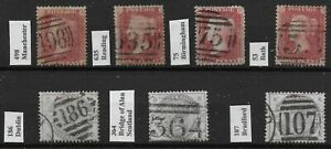 SG40-amp-190-1d-Stars-amp-2-amp-1-2d-Lilac-Used-With-Identified-Numeral-Cancels-Ref-0574