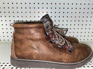 Skechers-Bobs-Alpine-Keep-Trekking-Womens-Ankle-Boots-Booties-Size-9-Brown