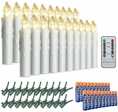 20PCS LED Window Candles Remote Timer Battery Operated ...