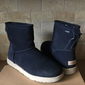 3c740982530 Details about UGG Classic Toggle Waterproof True Navy Blue Suede Fur Short  Boot Size 13 Mens