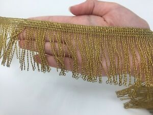 Vintage-Gold-Metallic-Fringe-New-Old-Stock-for-Vestment-Cape-2-1-2-034-Sold-by-Yard
