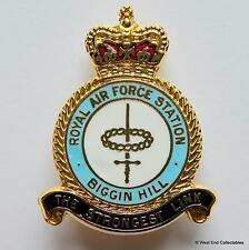 RAF Station Biggin Hill - Royal Air Force Enamel Brooch Badge - London Airport