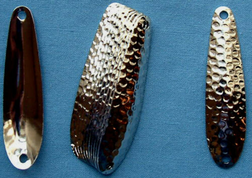 "2 3//8/"" Nickel Hammered Trolling Flutter Spoons Lake Erie Walleye Candy"