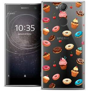 Coque-Crystal-Gel-Pour-Sony-Xperia-XA2-5-2-034-Souple-Foodie-Donuts