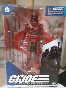 In STOCK Hasbro G.I. Joe Classified Series Red Ninja Action Figure