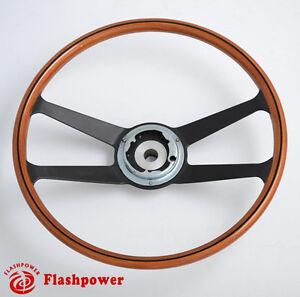 395mm-Reproduction-VDM-wooden-steering-wheel-Restoration-Porsche-911-912-914