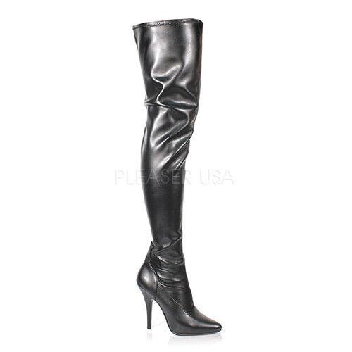 Pleaser seduce - 3000 botas altas negro negro negro Stretch góticos tabledance poledance  estilo clásico