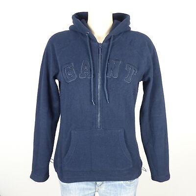 Angemessen Gant Fleecepullover Hoodie Zipper Blau Gr. M