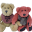 thumbnail 1 - 2-Vintage-Boyds-Bears-Bosley-Tan-and-Rare-Red-Toe-Boyds-Bear-Jointed-8in-and-9in