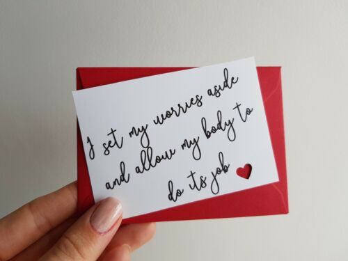 fertility journey positive thinking 12 IVF affirmation cards and envelopes