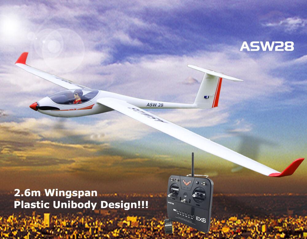 Planeador Rc Rtf volantex ASW28 hélice avioneta modelo con servos ESC Batería Motor