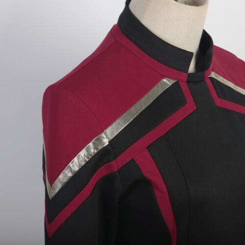 Cosplay Admiral JL Picard Red Gold Stripe Uniform Startfleet Women Costumes