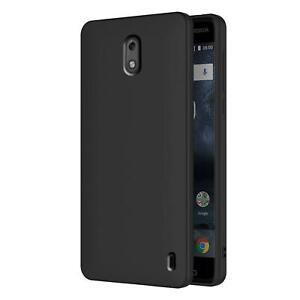 Huelle-fuer-Nokia-2-Schutzhuelle-Handy-Huelle-Slim-Case-Weich-Matt-Schwarz-TPU-Cover