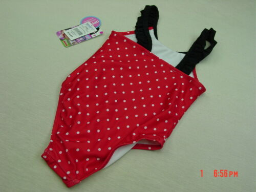 NWT Toddler Girls Disney Minnie Mouse One piece Bathing Swim Suit Summer Pool