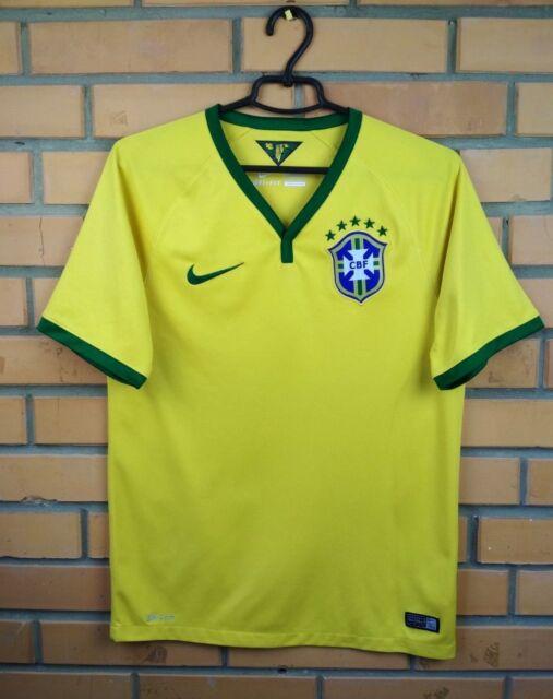 ffc065afa Brazil Brasil jersey SMALL 2014 2016 home shirt 575280-703 soccer football  Nike