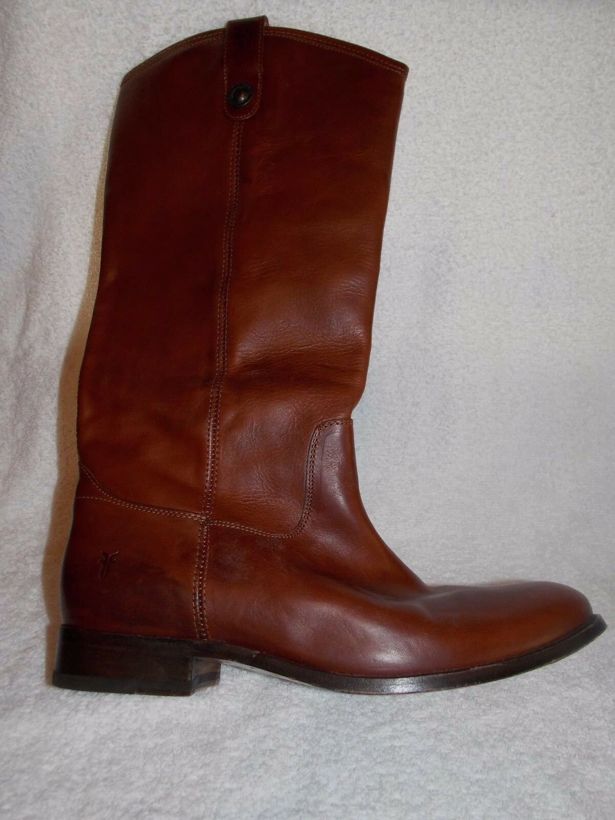 Frye MELISSA BUTTON Leather Knee High Riding  Boots 11B Women Used Boots