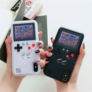 Color-Screen-Phone-Case-Back-Cover-Game-Boy-Player-for-iPhone-X-XS-11-Pro-Max-US