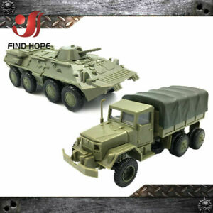 1-72-BTR-80-Armored-Carrier-M35-Cargo-Truck-Building-Block-Assembling-Model-Army