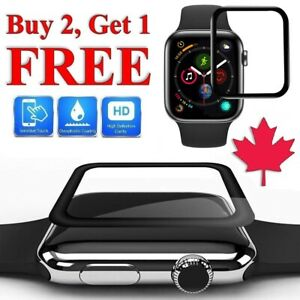 For Apple Watch Series 1 2 3 4 5 6 SE - Premium Curved 3D Edge Screen Protector