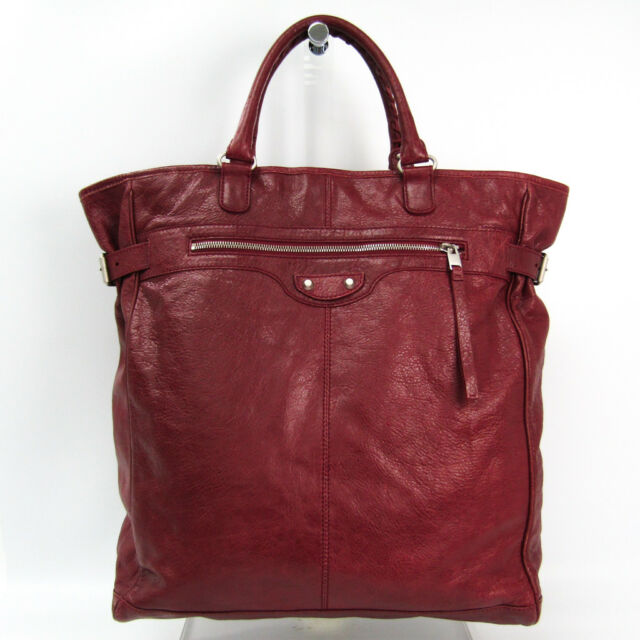 57e033238273 Frequently bought together. Balenciaga 409267 Women s Leather Tote Bag  Bordeaux BF325714