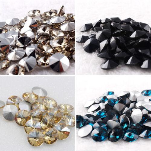 New Colors 14mm Crystal Rivoli Beads XILION ELEMENTS AB 15PCS DIY