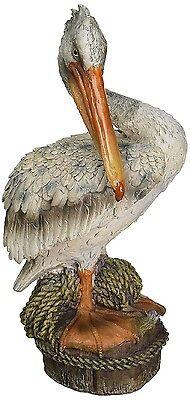 Pelican Garden Statue Nautical Bird Sculpture Coastal Art ...