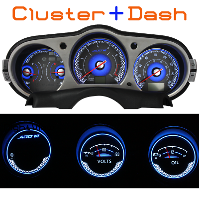 Dash Gauge ADD W1 Gauge Overlay for Nissan 350Z white face white gauge