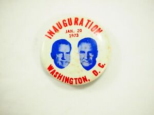 Nixon-Agnew-Inauguration-Washington-D-c-Jan-20-1973-Boton-1-25-034-34mm