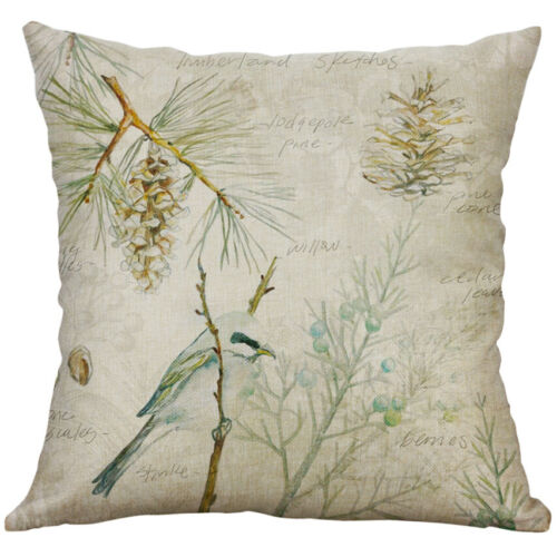 18 In*18/' In Pillow Case Vintage Flower Pattern Cotton Linen Throw Cushion Cover