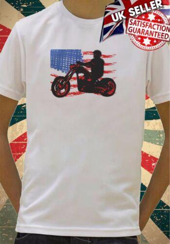 American figure on motorcycle Totem Art Boys Girls Birthday gift Top T shirt 134