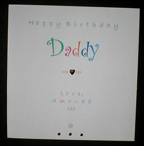 Handmade personalised happy birthday card daddy ebay image is loading handmade personalised happy birthday card daddy bookmarktalkfo Choice Image