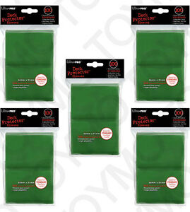 500-5pk-ULTRA-PRO-Card-Game-Sleeve-Deck-Protector-MTG-Magic-Standard-82693-Green
