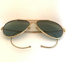 NEW Aviator Sunglasses Hipster Vintage Style Cable Hook Temples Gold b