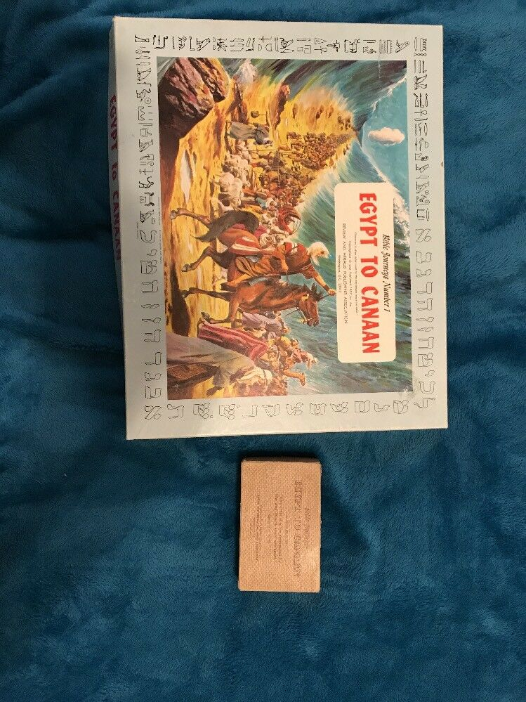 Rare First Edition Egypt To Canaan Board Games 1957 Complete