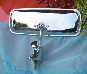 Corvette-1957-Dash-Mirror-amp-Chrome-Base-with-Thumb-Screw