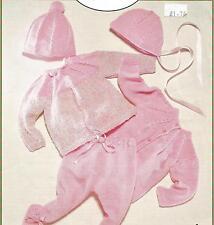 "Vintage Knitting Pattern Baby Pram Suit 12""- 20"" Chest, Pattern number 292"