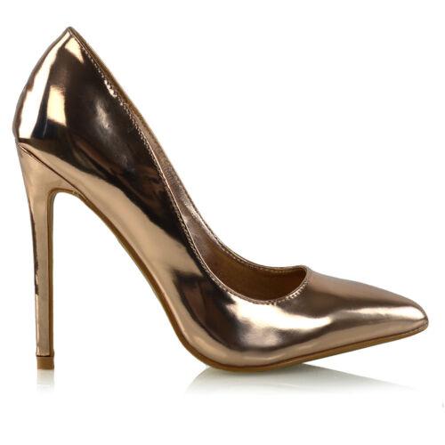 Womens Stiletto Heel Pointed Pumps Ladies Party Clubbing Work Pumps Court Shoes