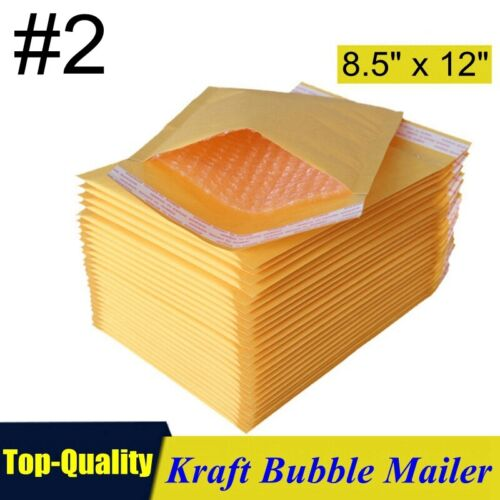 Kraft Bubble Mailers Padded Self Seal Shipping Bags Envelopes Multiple Sizes