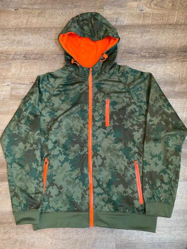 Foot Locker Premium Fleece Camo Zip Up Hoodie Larg