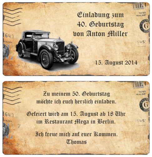 Invitation Cards Birthday * Invitation * Vintage Card 10 20 30...