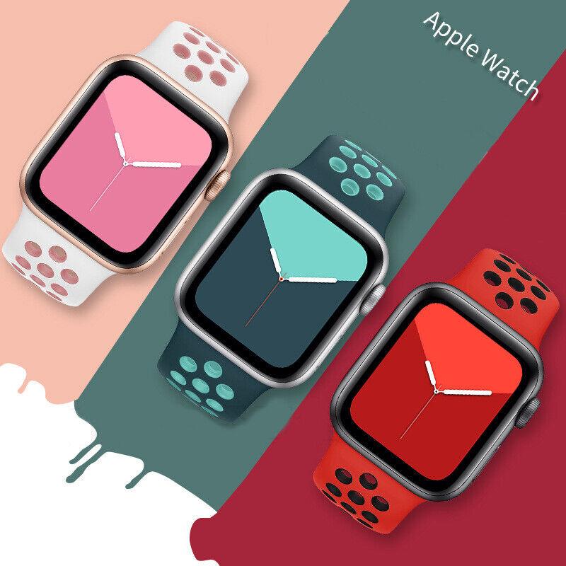 iwatch: Correa Silicona Apple Watch para iWatch Series 1/2/3/4/5/6 38-40mm/42-44mm Sport