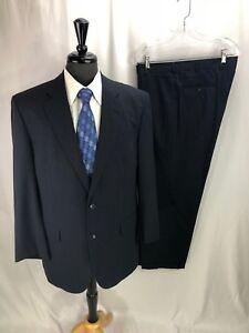 Brooks-Brothers-Brooks-Cool-Madison-Men-039-s-Blue-Pinstripe-Suit-42R-36-x-29