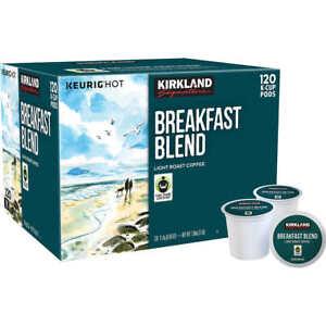 Kirkland-Signature-Breakfast-Blend-Light-Roast-Coffee-Keurig-K-Cup-120-Pods